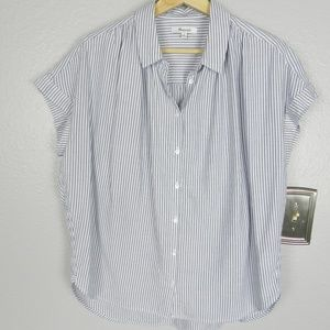 Madewell Central Stripe Shirt Size M